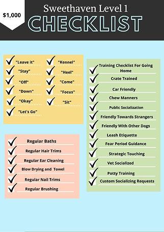 puppy training checklist