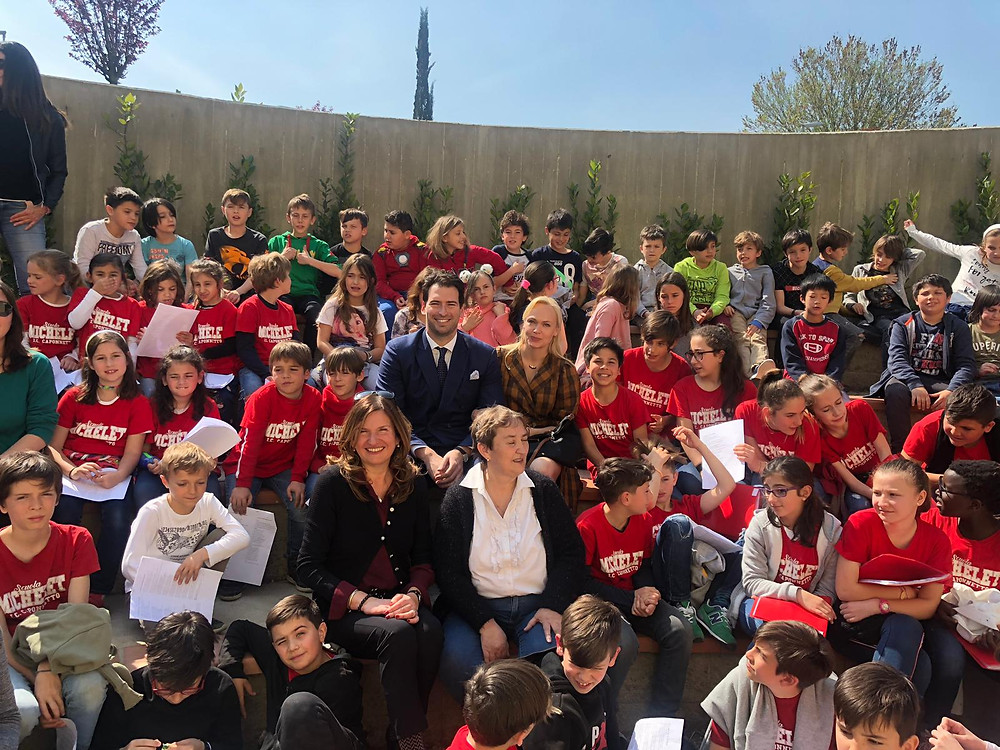Alvaro and Kristina with the Elementary School Michelet