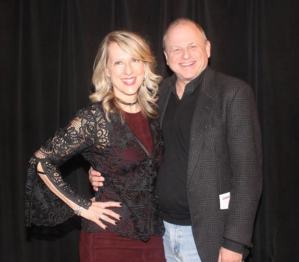 Debra Whitfield and Doug Denoff (Producer, The 39 Steps) Photo Credit: Linda Lenzi