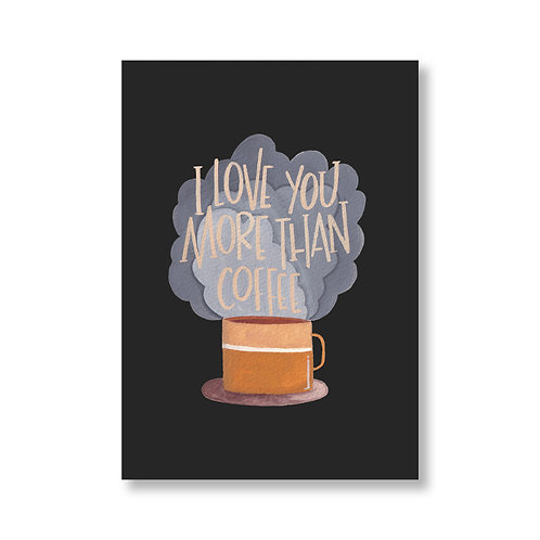 Love you - Coffee Card