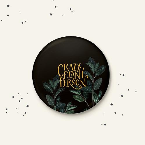 Crazy Plant Person Badge - Set of 2