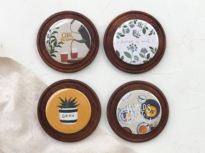 Yellow Hues - Pack of 4 Badges