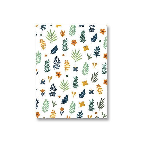 White Floral Journal