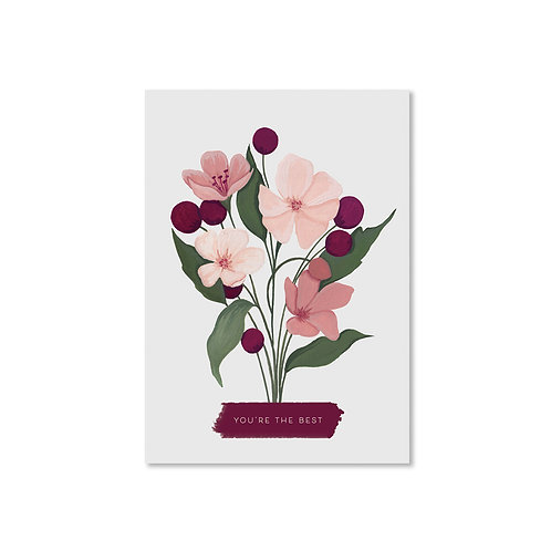 You're the best floral card