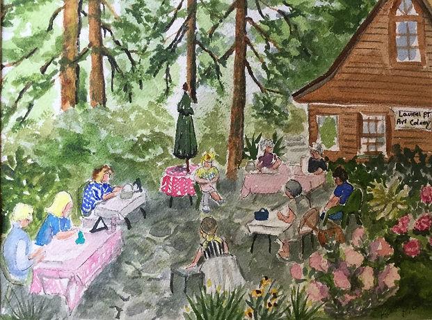 A watercolor by Karen Prewo