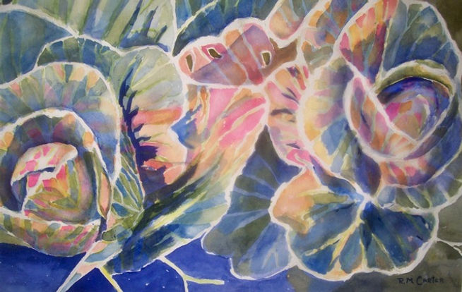 Cabbages, a watercolor by Roz Carter #37