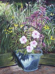 Patio Planter, pastel by Eric Vogel