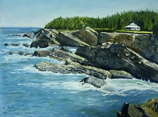 """pastel by Eric Vogel. _This latest painting, entitled """"Shore Acres View"""".jpeg"""