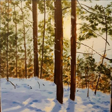 Hiker's Reward, acrylic on canvas by Jea