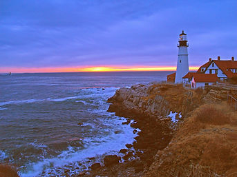 Normand Charlette's photograph Portland Head Light at  First Light