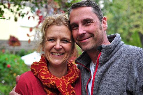 Ihre Gastgeber in Gedern: Bettina Goldemann und Matthias Dorfner