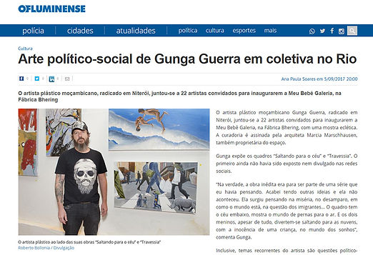 Gunga Guerra at Meu BB Gallery