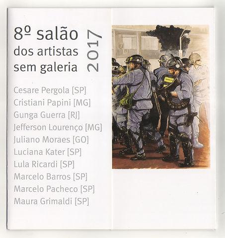 Briga de Galo/ Cockfight_Gunga Guerra no convite do Salão dos Artistas sem Galeria