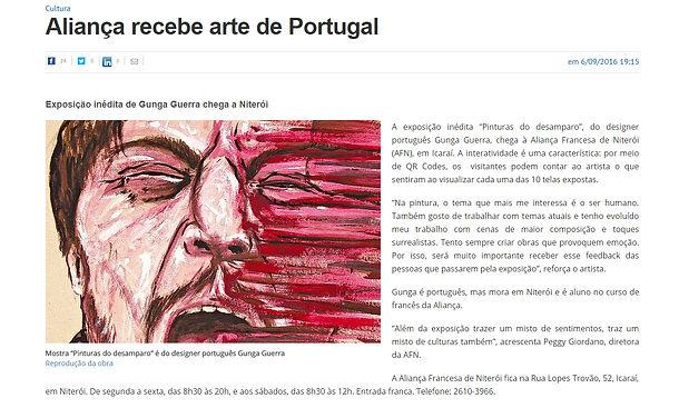 Howl_Gunga Guerra na matéria do Jornal O Fluminense