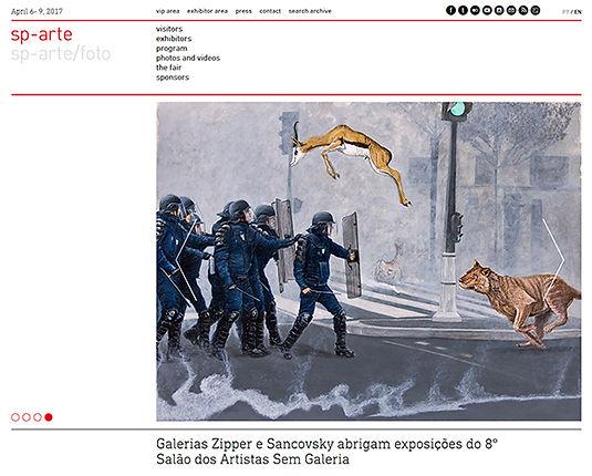 Se correr o bicho pega_Gunga Guerra no site da sp-arte