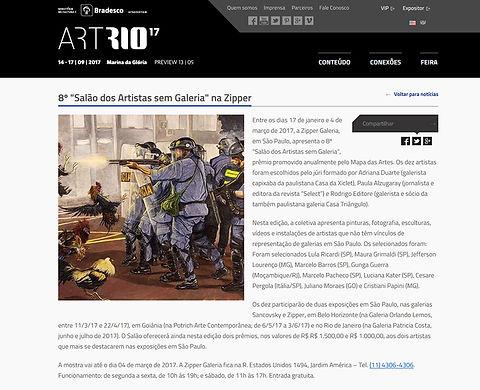 Briga de Galo/ Cockfight de Gunga Guerra na News da ArtRio17