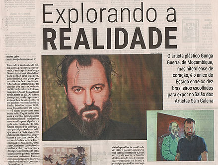 Gunga Guerra na Materia do Jornal O Fluminense