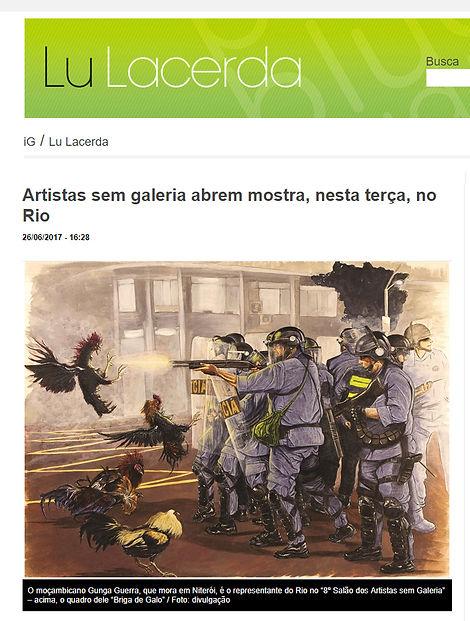Briga de Galo / Cockfight de Gunga Guerra na Coluna Lu Lacerda