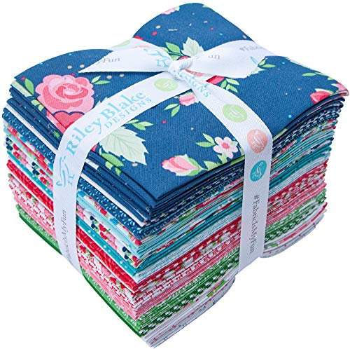Wilfred Rose by Christopher Thompson Fat Quarter Bundle for Riley Blake - 24 Pi