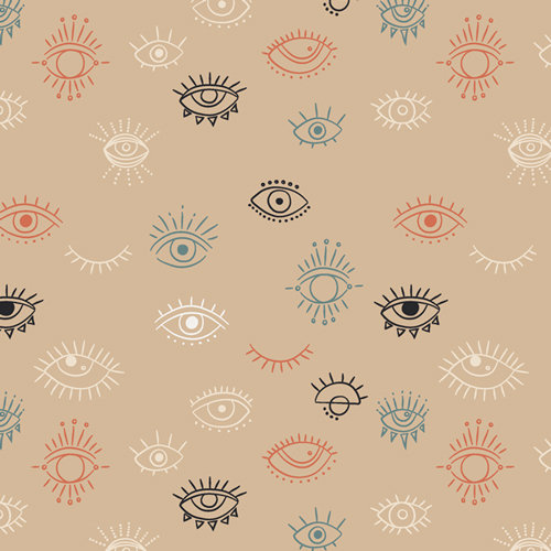 "Luna & Laurel ""Eye See You Day"" AGF - Fabric by the Yard"