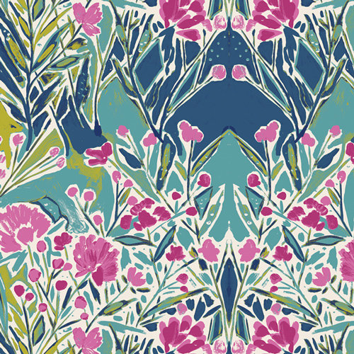 Bloomsbury Ms. Woolf Calmwater Designed by Bari J. Fabric by the Yard
