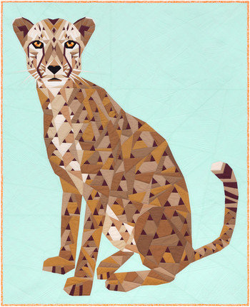 Cheetah Abstractions Quilt KIT by Violet Craft featuring Kona Cotton