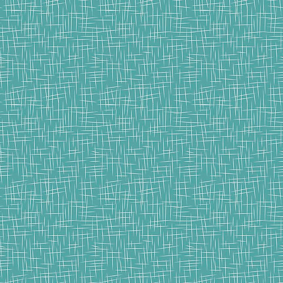 Large Hashtag Teal Fabric by the Yard