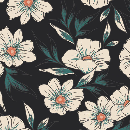 "Luna & Laurel ""Tinted Blooms"" AGF - Fabric by the Yard"