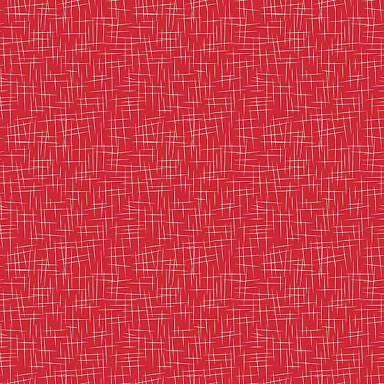 Large Hashtag Red Fabric by the Yard