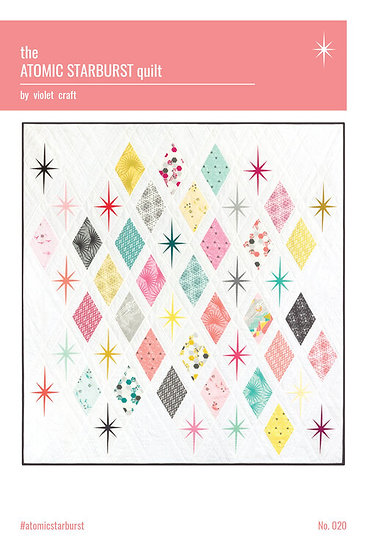 Atomic Starburst Quilt Pattern by Violet Craft