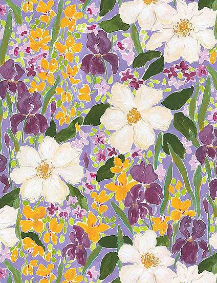 """Mardi Gras """"Mardi Gras Floral"""" for Dear Stella - Fabric by the Yard"""