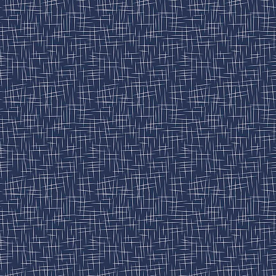 Large Hashtag Navy Fabric by the Yard