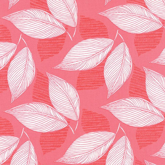 Blush Pink Leaflet Print from Aria Collection by Kate Spain - Fabric by the Yard