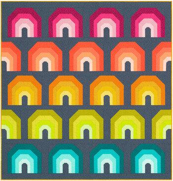 Polychromatic Quilt KIT by Elizabeth Hartman featuring Kona Cotton