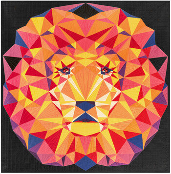 Lion Abstractions Quilt KIT by Violet Craft featuring Kona Cotton