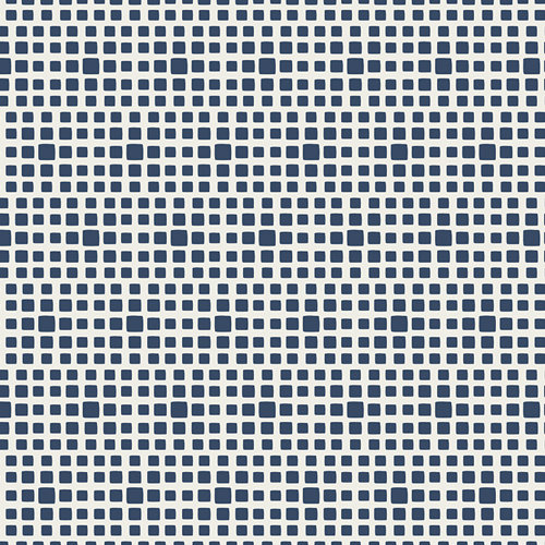 Squared Elements in Navy from Art Gallery Fabrics - Fabric by the Yard