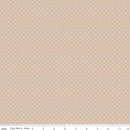 Swiss Dots White Dots on Beach Fabric by the Yard