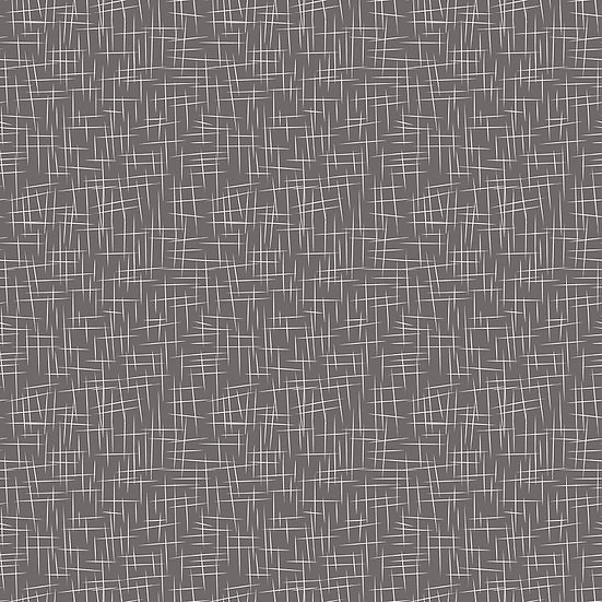 Large Hashtag Charcoal Fabric by the Yard