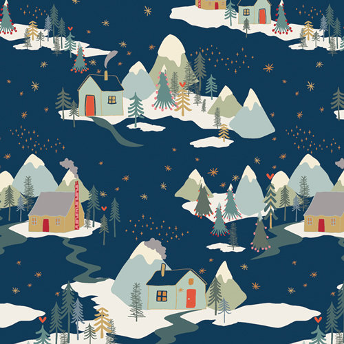 "Cozy & Joyful ""Winter Wonderland"" Designed by Maureen Cracknell Fabric by Yard"