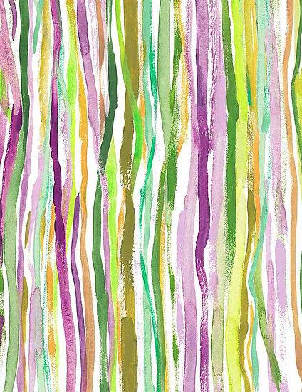 """Mardi Gras """"Nola Stripe"""" for Dear Stella - Fabric by the Yard"""