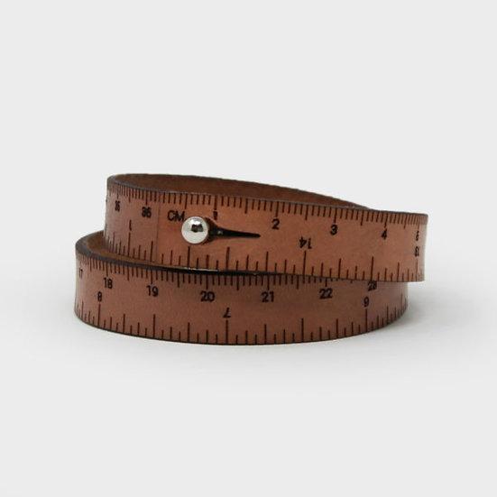 "Wrist Ruler - 15"" Wristband in Medium Brown"
