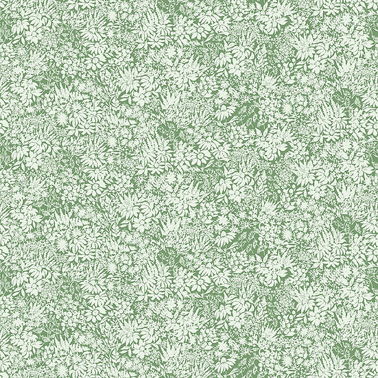 "Rocky Mountain Wild ""Flowers in Green"" for Riley Blake Designs"