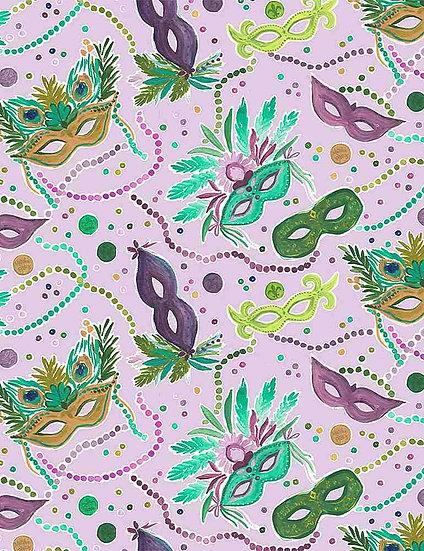 """Mardi Gras """"Masks"""" for Dear Stella - Fabric by the Yard"""