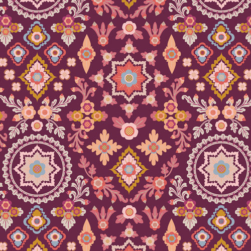 "Rosewood Fusion ""Aloha Spirit Rosewood"" by Mister Domestic Fabric by Yard"