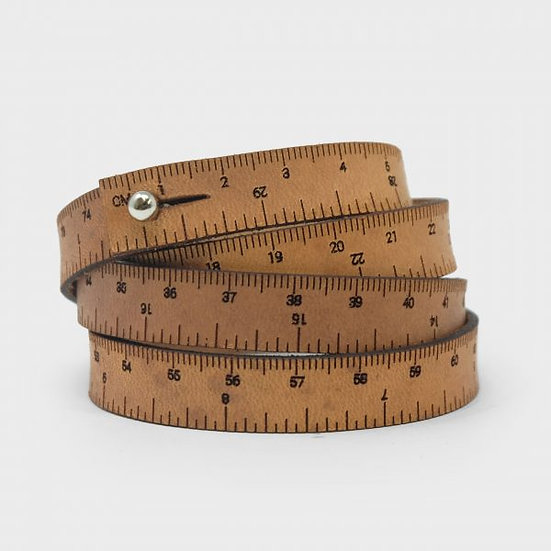 "Wrist Ruler - 30"" Wristband in Medium Brown"