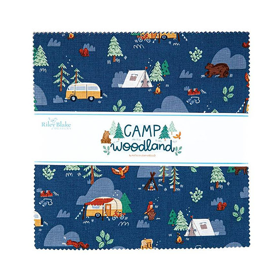 """Camp Woodland 10"""" Stackers by Riley Blake - 42 Pieces"""
