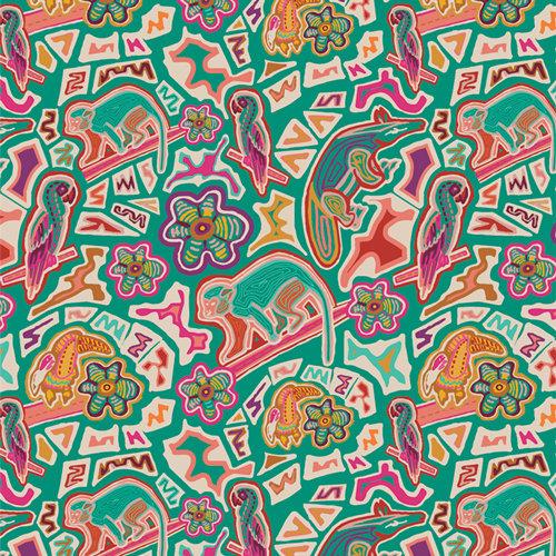 "Andina ""Florid Animalia"" AGF - Fabric by the Yard"