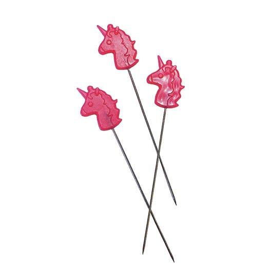Unicorn Head Straight Pins by Tula Pink