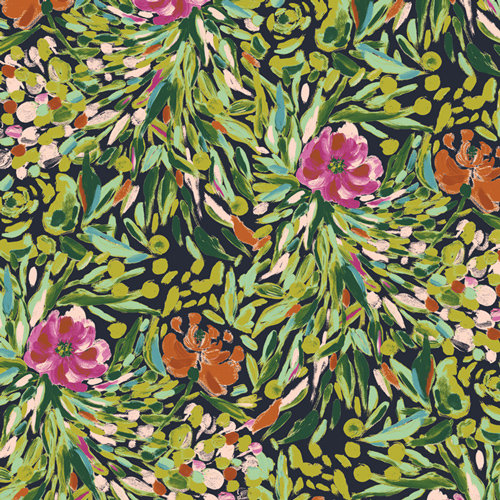 Bloomsbury Writer's Garden Stem Designed by Bari J. Fabric by the Yard