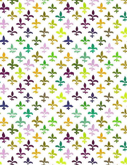 """Mardi Gras """"Fleur De Lis"""" for Dear Stella - Fabric by the Yard"""